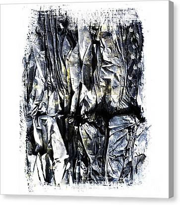 Cardboard Canvas Print - Pile Of Crushed Cardboard  For Recycling by Bernard Jaubert