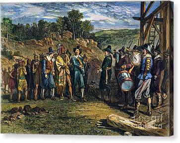 Pilgrims: Massasoit Canvas Print by Granger