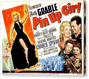 Pin-up Girl, Betty Grable, John Harvey Canvas Print by Everett