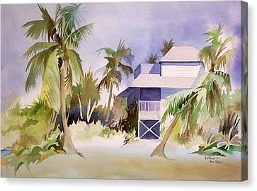 Canvas Print featuring the painting Pine Island Fl. by Richard Willows