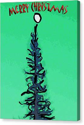 Pine Tree Christmas Canvas Print