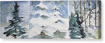 Pine Tree Trilogy Canvas Print by Mindy Newman