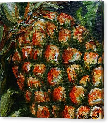 Pineapple Canvas Print by Karen  Ferrand Carroll