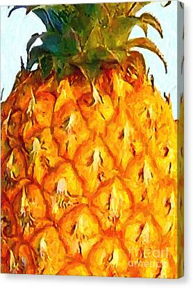 Pineapple Canvas Print by Wingsdomain Art and Photography