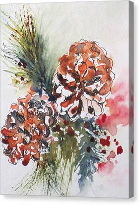 Pinecone Garland Canvas Print by Corynne Hilbert
