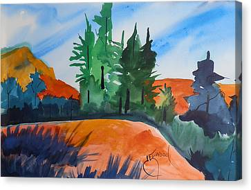 Pines Atop Red Mountain Canvas Print