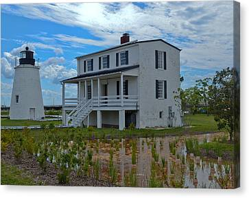 Canvas Print featuring the photograph Piney Point Lighthouse by Kelly Reber