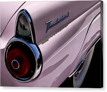 Pink 1955 T-bird Canvas Print