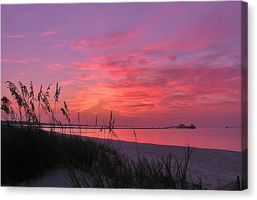 Pink And Purple Dawn Canvas Print by Brian Wright