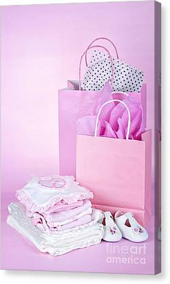Pink Baby Shower Presents Canvas Print by Elena Elisseeva