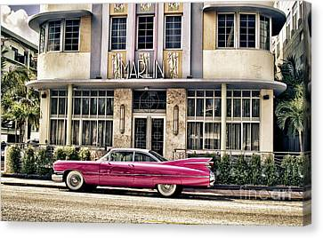 Canvas Print featuring the photograph Pink Cadillac by Vicki DeVico