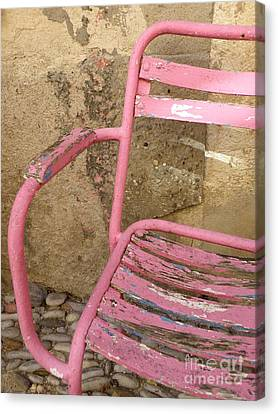 Pink Chair Canvas Print by Lainie Wrightson