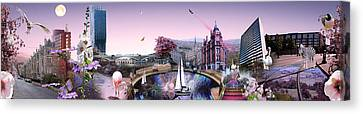 Pink City Canvas Print by Emily Campbell