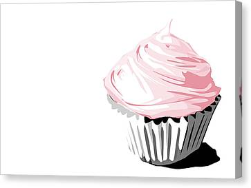 Pink Cupcake Canvas Print by Jay Reed