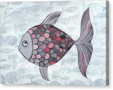 Pink Fish Canvas Print by Georgiana Chitac