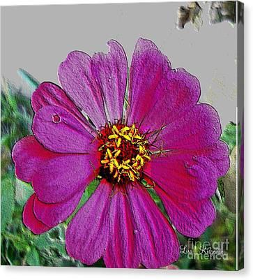 Pink Flower Canvas Print by Lisa  Ridgeway