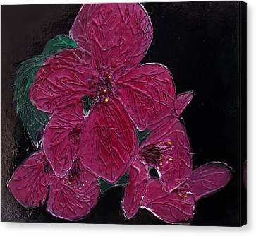 Pink Flowers Canvas Print by Angela Stout
