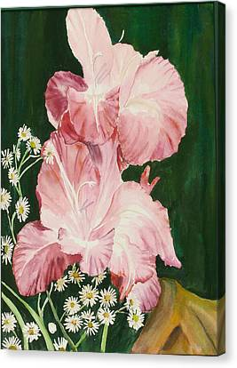 Pink Glad Canvas Print by Judy Loper