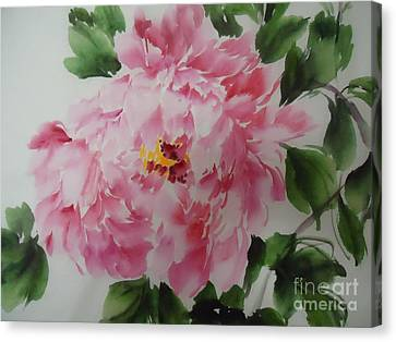 Canvas Print featuring the painting Pink King---1 by Dongling Sun