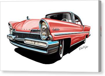 Pink Lincoln Premier  Canvas Print by David Kyte