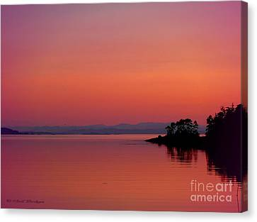 Pink Morn At Rock Point Canvas Print by Gail Bridger