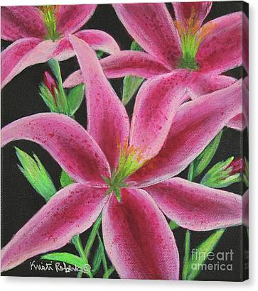 Canvas Print featuring the painting Pink Paradise by Kristi Roberts