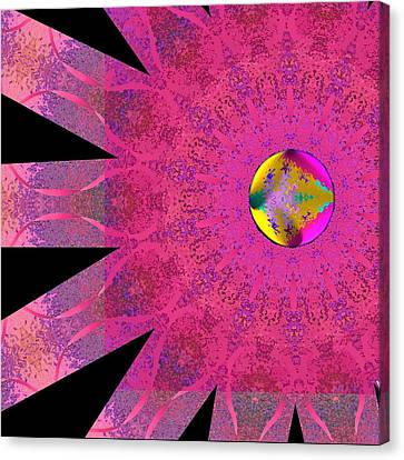 Canvas Print featuring the digital art Pink Ribbon Of Hope by Alec Drake