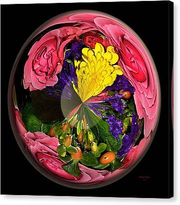 Pink Rose Globe Canvas Print by Phyllis Denton