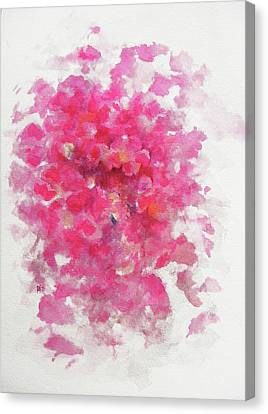 Flower Pink Fairy Child Canvas Print - Pink Rose by Rachel Christine Nowicki