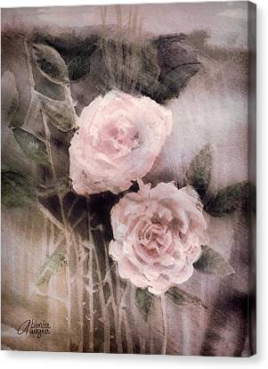 Pink Roses Canvas Print by Arline Wagner
