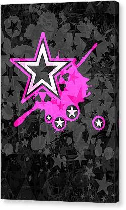 Pink Star 3 Of 6 Canvas Print
