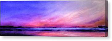 Canvas Print - Pink Sunrise. by Jan Farthing