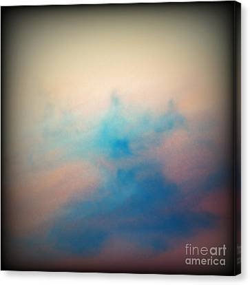 Pink Sunset Clouds Canvas Print