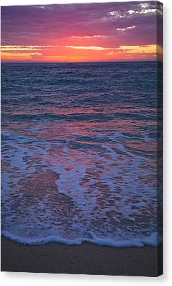 Pink Sunset Canvas Print by Serene Maisey