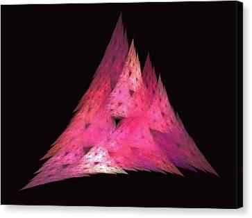 Pink Triangles Canvas Print by Lynn Bolt