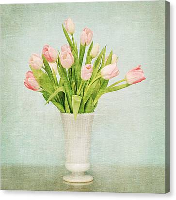Pink Tulips Canvas Print by Mary Hershberger