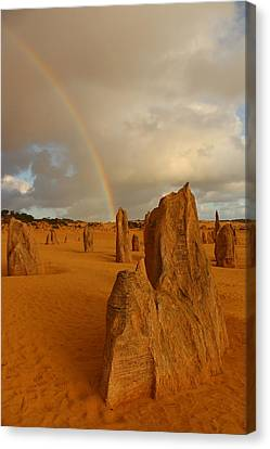 Pinnacle Rainbow Canvas Print