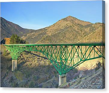 Pioneer Bridge Canvas Print by Loree Johnson