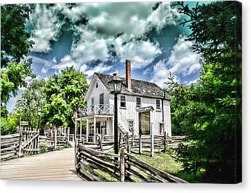 Pioneer Village Canvas Print by Jana Smith
