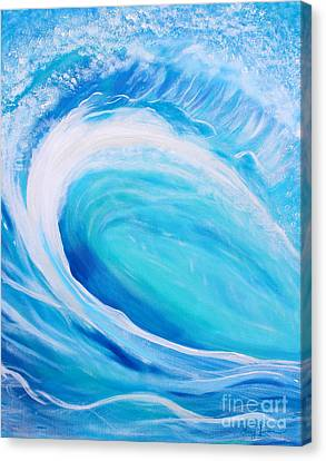 Canvas Print featuring the painting Pipeline by Stacey Zimmerman