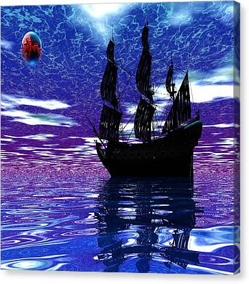 Pirate Ship Canvas Print by Matthew Lacey