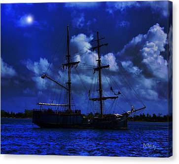 Canvas Print featuring the photograph Pirate's Blue Sea by Patrick Witz
