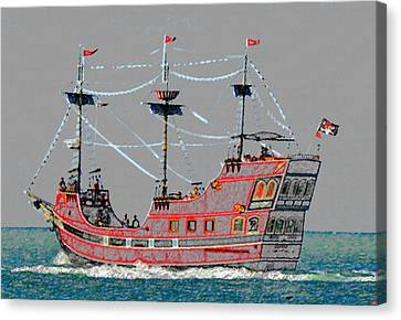 Pirates Ransom Canvas Print by David Lee Thompson