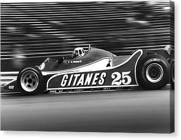 Canadian Grand Prix Canvas Print - Pironi At Speed by Mike Flynn
