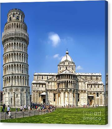 Pisa Italy - Piazza Dei Miracoli - 01 Canvas Print by Gregory Dyer