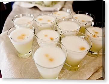 Pisco Sours Are Served By Peru Rail Canvas Print