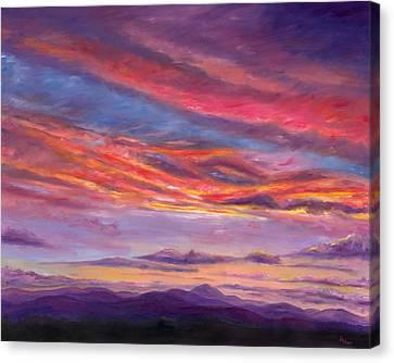 Pisgah Sunset Canvas Print by Jeff Pittman