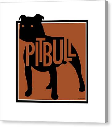Pit Bull Brown Canvas Print
