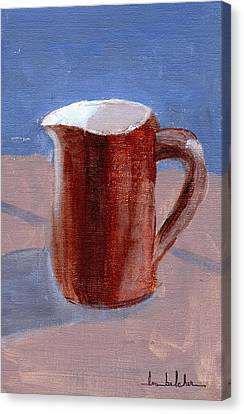 Canvas Print featuring the painting Pitcher by Lou Belcher