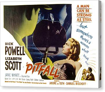 Pitfall, Dick Powell, Lizabeth Scott Canvas Print by Everett